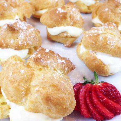 Lemon Filled Cream Puffs