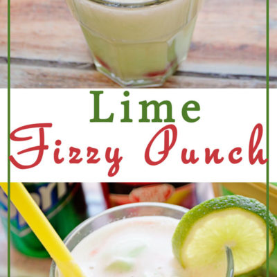 Your kids will love making this Lime Fizzy Punch with you and it couldn't be easier to throw together. It makes the perfect drink for a party too!