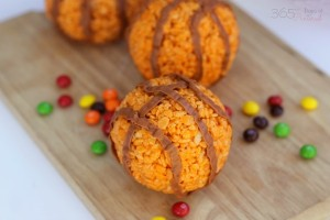 Rice Krispie basketballs
