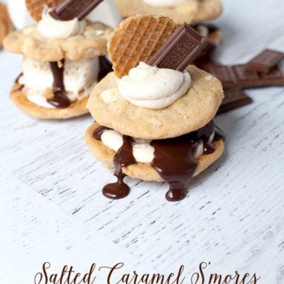 Semi-Homemade Salted Caramel S'mores with Milk Chocolate Ganache