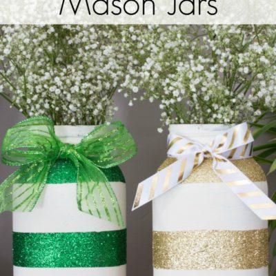 St. Patrick's Day Mason Jars