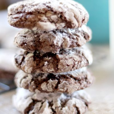 Dark Chocolate Crackle Cookies