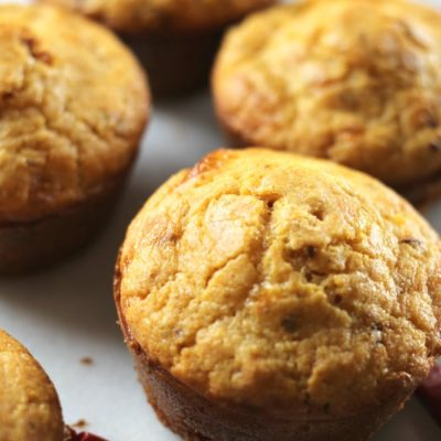 Cheesy Chipotle Cornbread Muffins
