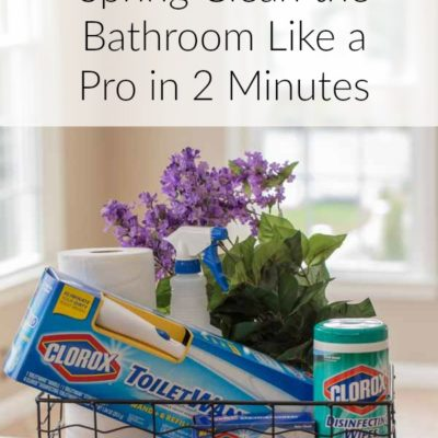 Spring Clean Bathroom Like a Pro in 2 Minutes