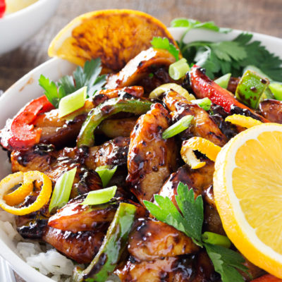 Cajun-Honey Glazed Chicken Bowls