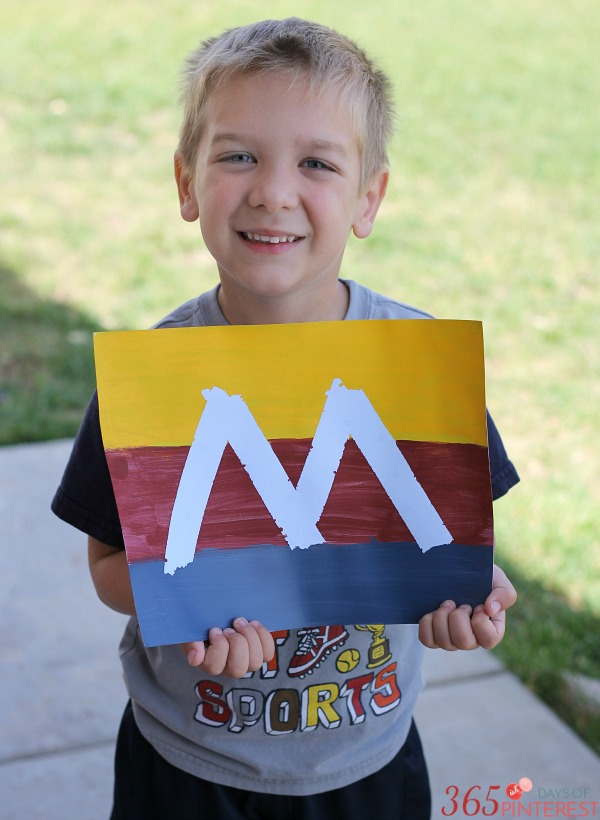 Tape Resist Letter Art is a DIY Craft that makes for an easy, good looking art project!