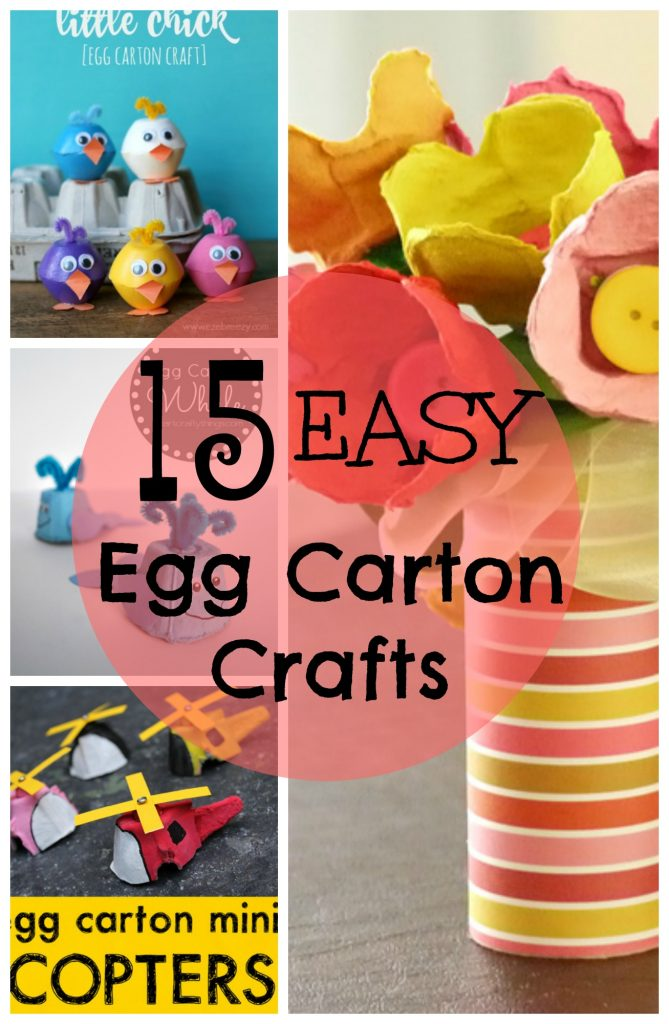 These Easy Egg Carton Crafts will delight kids of all ages! Who doesn't have an old egg carton lying around? Super fun and easy craft.