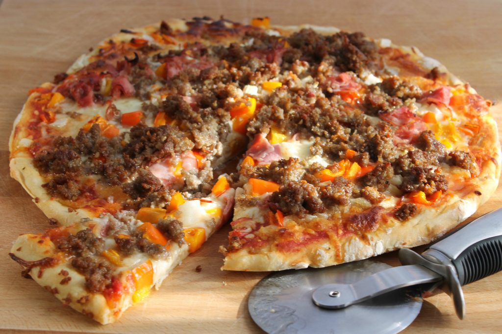Sausage Ham Pepper Pizza