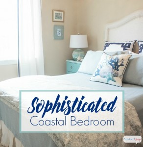 Sophisticated Coastal Bedroom Makeover from AttaGirlSays.com