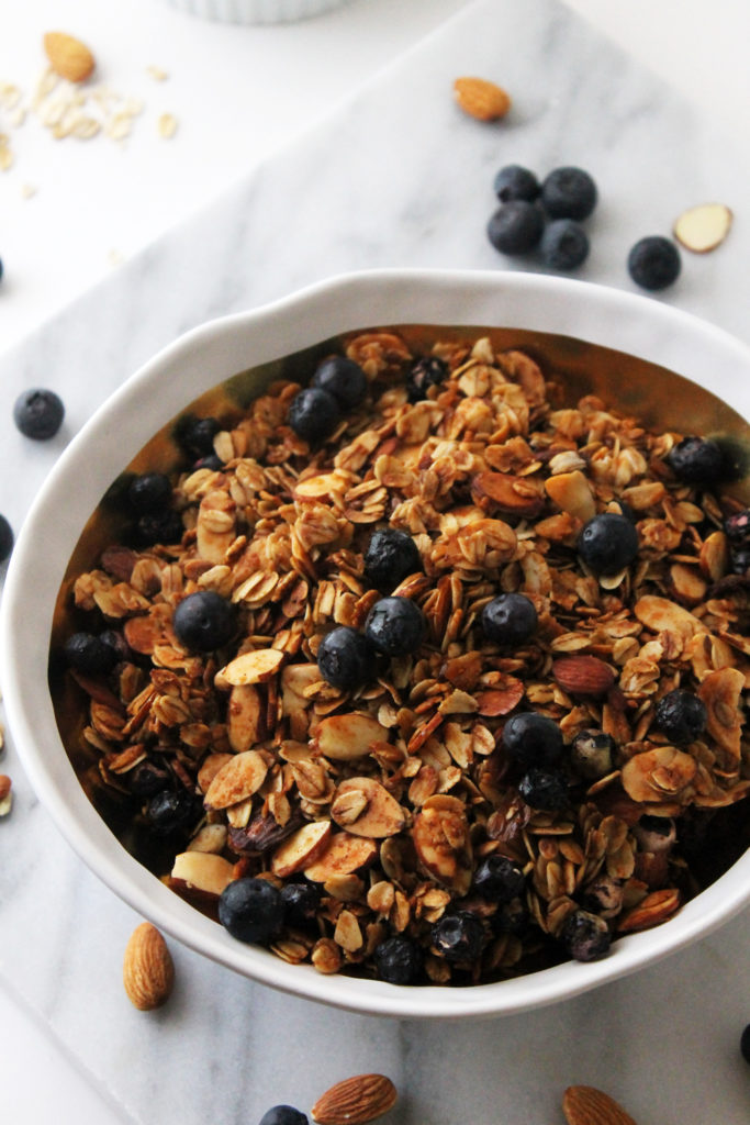 Cinnamon Blueberry Almond Granola Cereal | Made from Pinterest