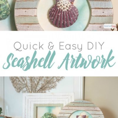 Quick and Easy DIY Seashell Artwork