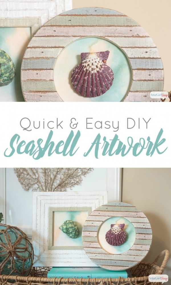 Bring the beach to your landlocked home with this Quick and Easy DIY Seashell Artwork. With a little glue, you will be hearing the waves in no time!