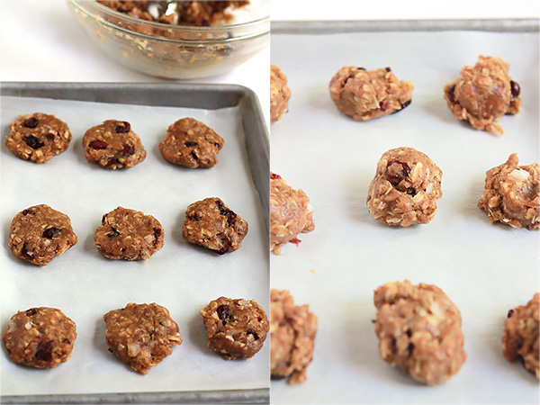Gluten-Free Almond Butter Breakfast Cookies, made with creamy almond butter and old-fashioned oats, a delicious way to start any day. From the oven to your mouth in 20 minutes.