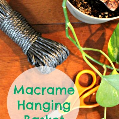 DIY Macrame Hanging Basket