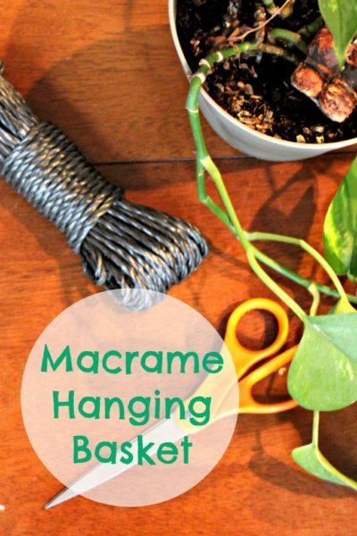 DIY Macrame Hanging Basket