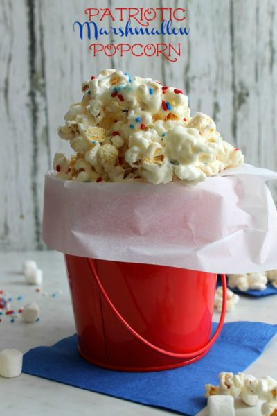 Patriotic Marshmallow Popcorn