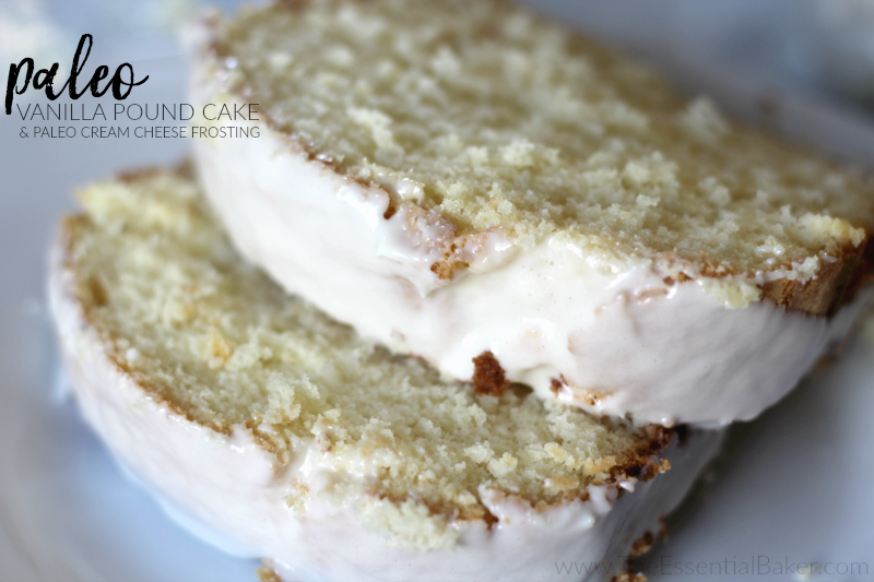 Paleo Vanilla Pound Cake and Paleo Cream Cheese Frosting