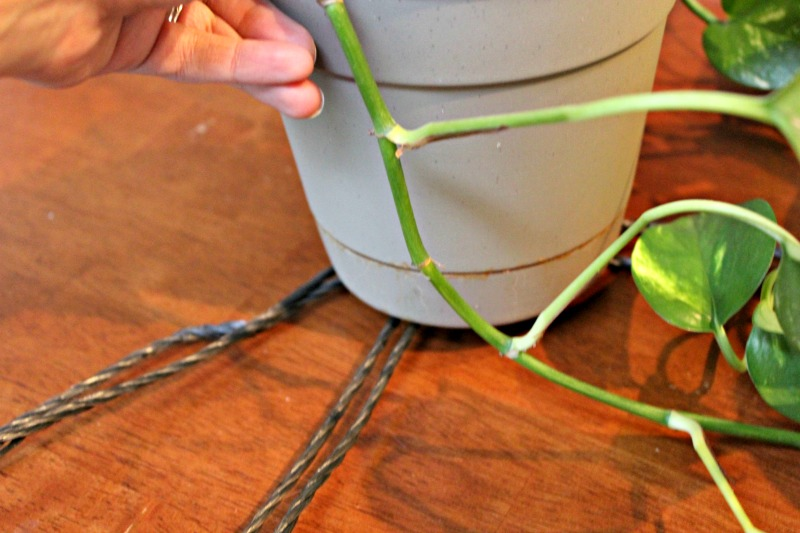 Macrame hanging basket tutorial