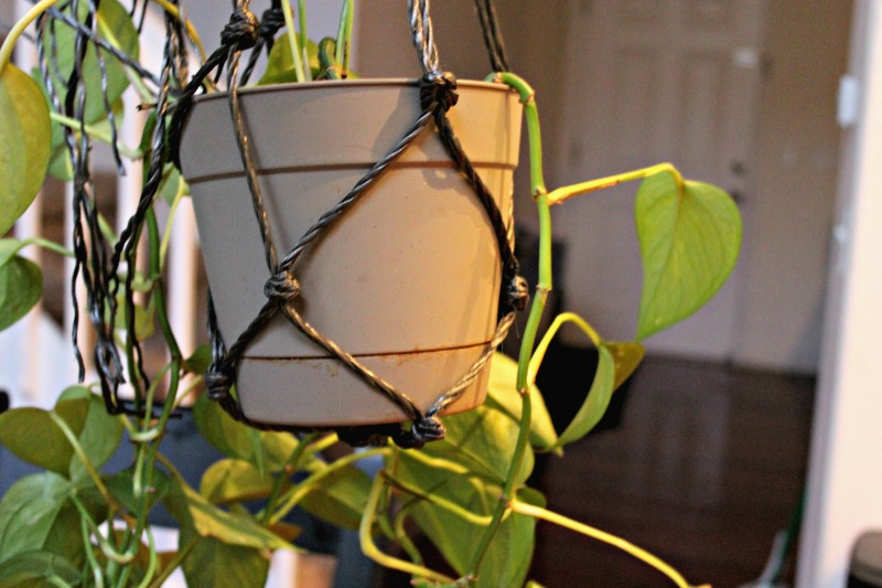 this Macrame Hanging Basket is the perfect way to display some greenery without taking up table space. This entire tutorial will take you less than 15 minutes to complete!