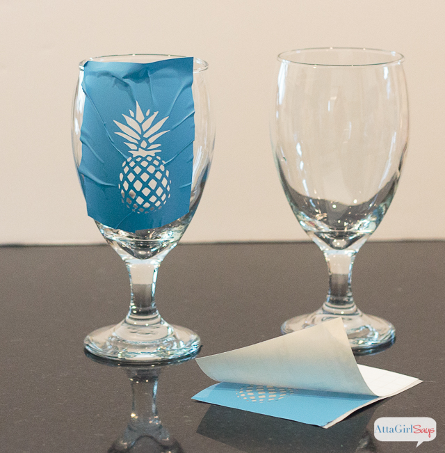 Pineapple Etched Water Goblets