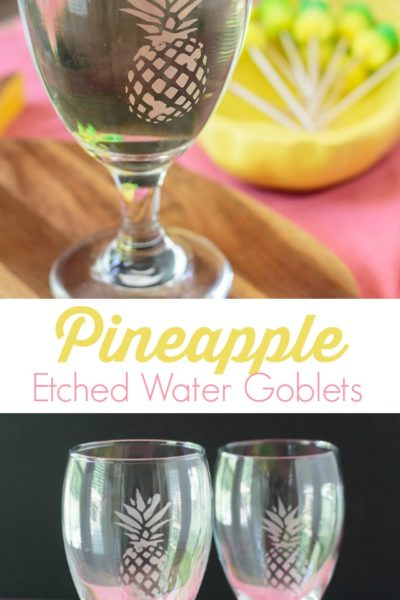 DIY Etched Pineapple Glasses