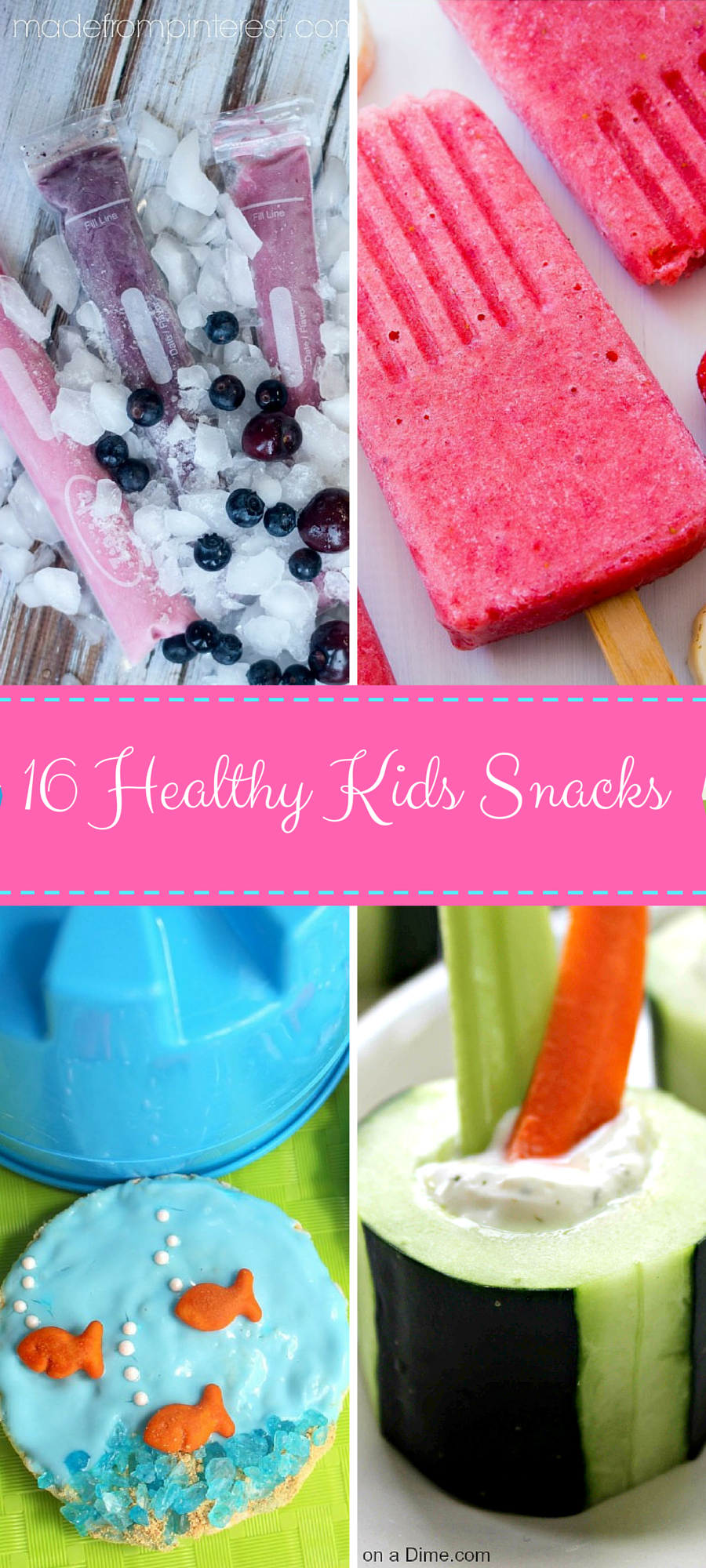 Here are 16 healthy kids snacks to get you through the rest of the summer!