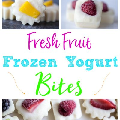 Fresh Fruit Frozen Yogurt Bites