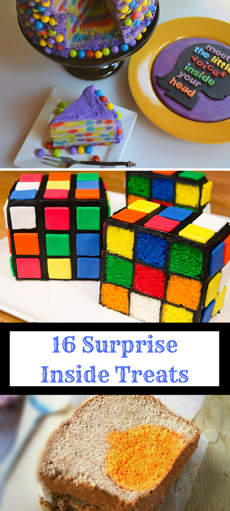 See how creative people get with 16 of the best surprise inside treats out there!