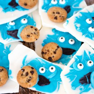 Looking for a fun idea that any kid would enjoy? Who doesn't like Cookie Monster? Candy bark is super easy to make, it sets up fast so that your kids don't have to wait a long time to eat the fruit of their labors. Just about any kid can help with this craft/recipe.