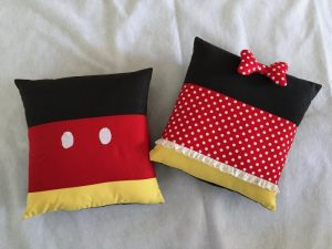 Mickey and Minnie Pillows