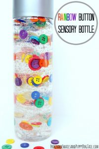 Rainbow Button Bottle