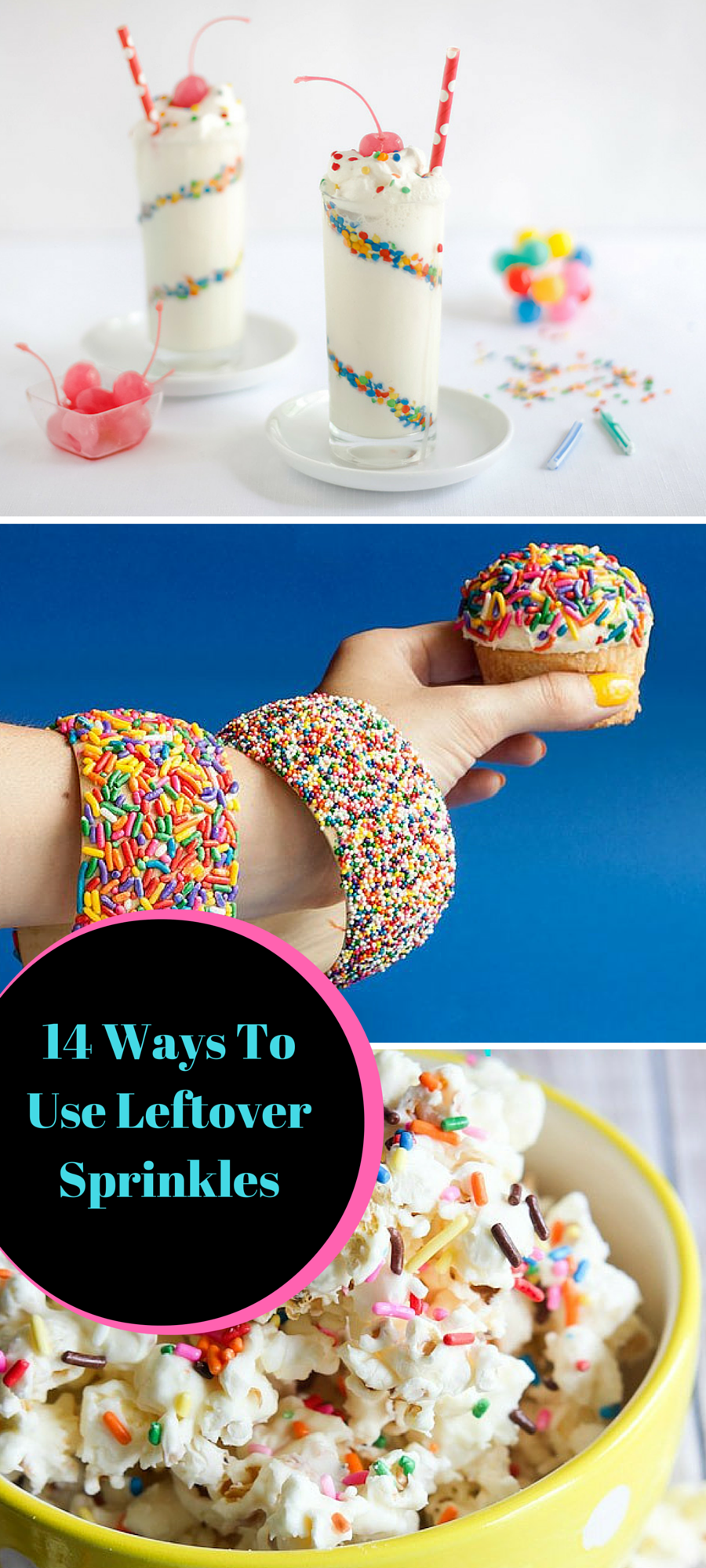 Here are 14 ways to use up the leftover sprinkles that have been sitting in your cupboard!