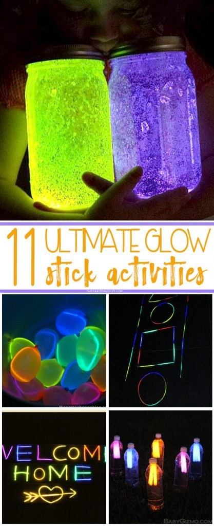 Make the most of the warm evenings, We've compiled a list using one of the trademarks of summer- glow sticks! What kid doesn't love'em?! Check out these fun glow stick activities you can do with your grandchildren!