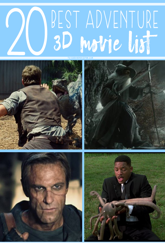 Looking for an amazing adventure to help you escape for a bit? Well, try sitting in your living room and watching a movie! Don't think movies are much of an adventure? Then it's time for you to try one of these movies from our 20 Best Adventure 3D Movie List! The 3D effects in these adventure and action movies will take you to a whole different world!