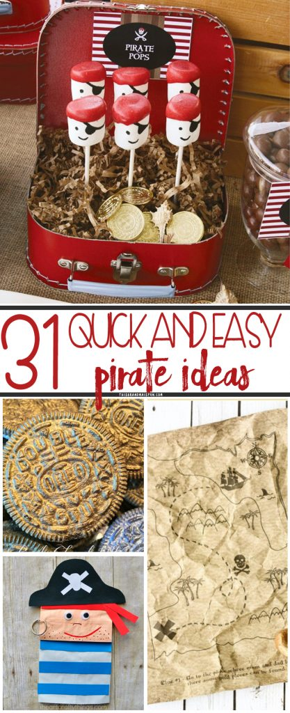 """Ahoy ye landlubbers! It be that time of year when we talk like scallywags and fight with swords! September 19th be """"Talk Like A Pirate"""" day, and we have all the best, easy pirate ideas to celebrate right here! Read on, if ye dare..."""