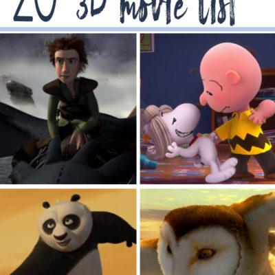 20 Best Animated 3D Movie List