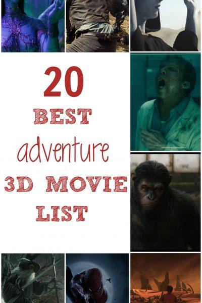 20 Best Adventure 3D Movie List