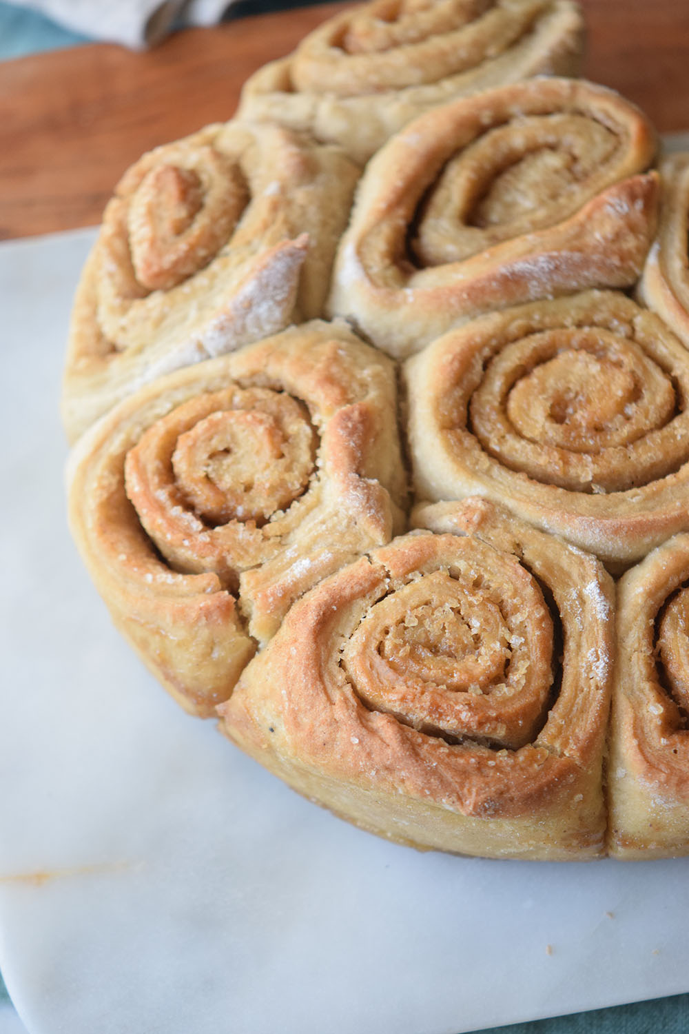 Buttermilk really makes the difference with these Buttermilk Cinnamon Rolls and the brown sugar adds a yummy caramel like flavor.