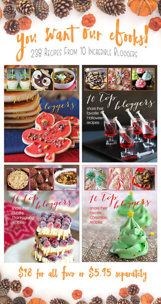 4 eBooks, Fall, Halloween, Thanksgiving, and Christmas. 238 easy recipes to help make all your holidays delectable!