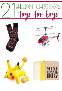 If you have rough-and-tumble, Pokemon-loving, light-saber-fighting boys, start your Christmas shopping with our 21 Brilliant Christmas Toys for Boys list!