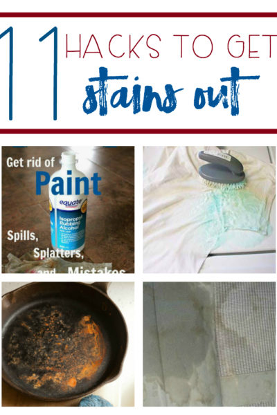 11 Hacks to Get Stains Out