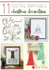 Decorating the home can bring in the magic of the season. Use these 11 Festive Printable Christmas Decorations to bring some merry to your Merry Christmas!