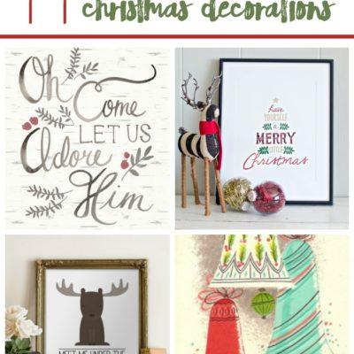 11 Festive Printable Christmas Decorations