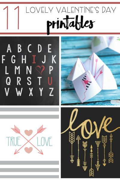11 Lovely Valentine's Day Printables
