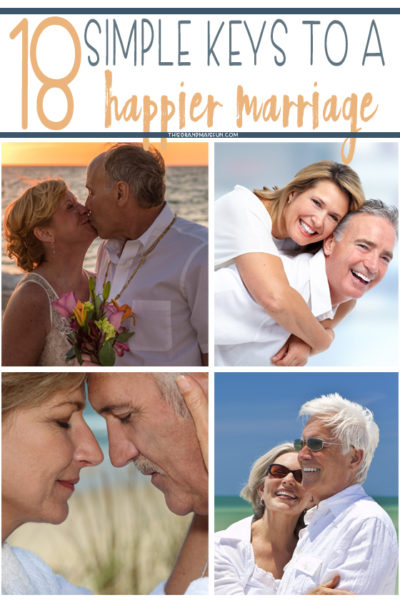 18 simple keys to a happy marriage