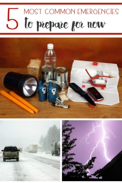 Knowing what emergencies can occur where you live is crucial so you can be prepared! Here are Five Most Common Emergencies to Prepare For Now.