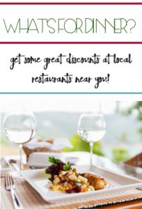Restaurant discounts for AARP Members