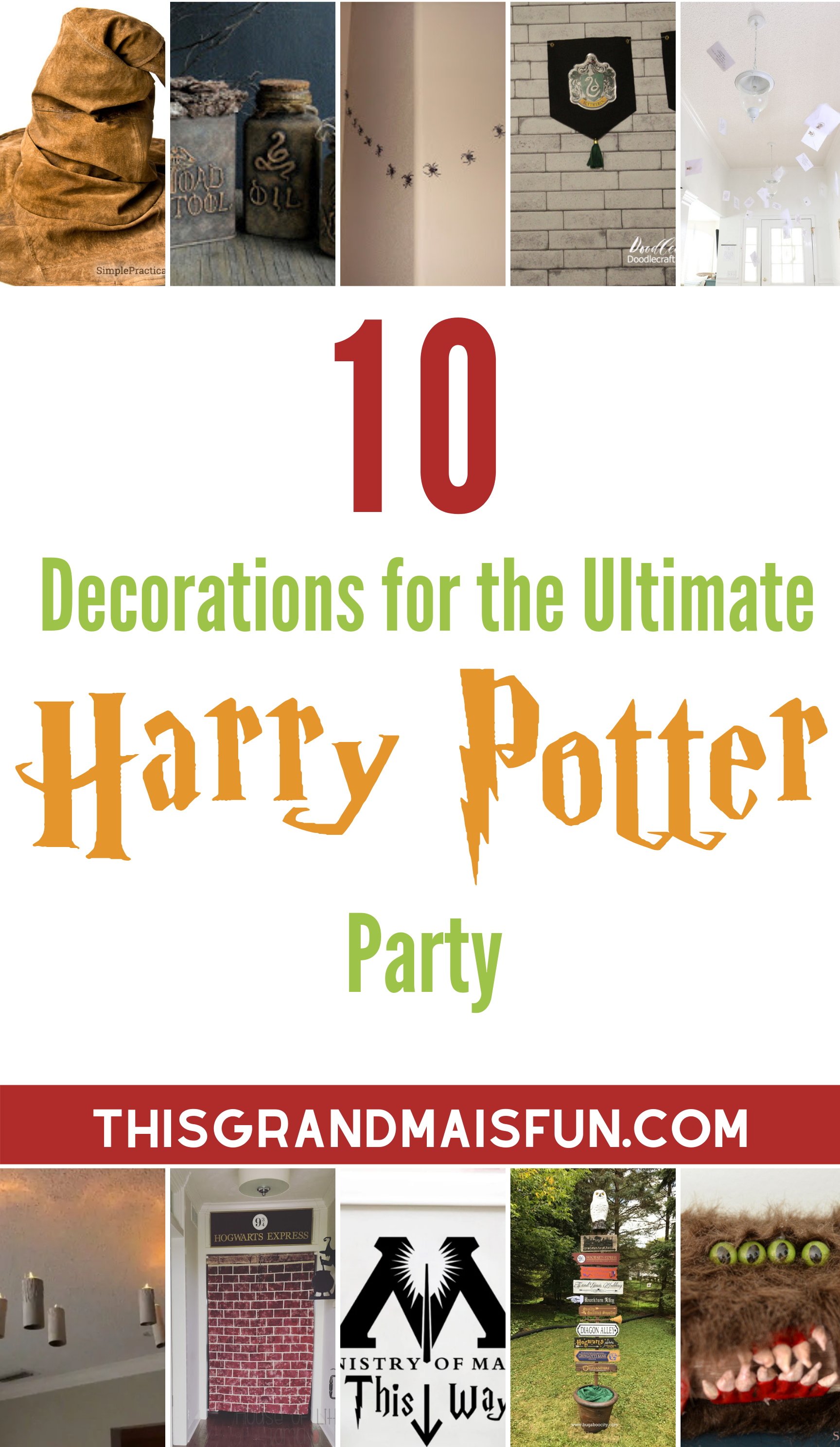 101 Ideas For The Ultimate Harry Potter Party Tgif This
