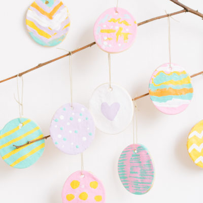 Salt Dough Easter Egg Ornaments