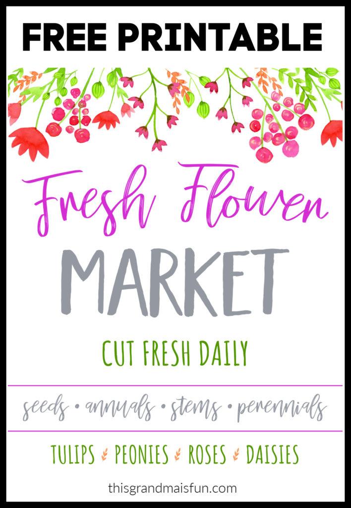 Fresh Flower Market Free Printable